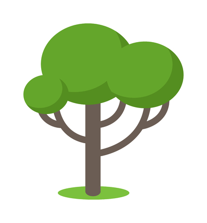 Cartoon tree vector illustration and cartoon tree isolated on white background. Cartoon tree vector icon. Cartoon tree isolated vector. Cartoon tree symbol