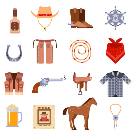 riding boot: Wanted vintage western cowboys icons, western vector  signs and western cowboy american symbols. Vintage American old western designs sign and cowboy cartoon icons illustration.
