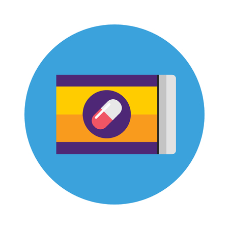 packs of pills: Pills pack blister icon of medication pills package and pills medicaments flat vector icon. Silver blister packs pills icon medical drugs cartoon flat vector illustration.