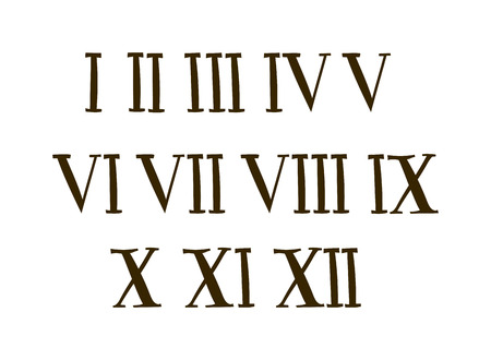roman alphabet: Old roman antique alphabet number and font roman alphabet Antique vector. Antique Roman alphabet numbers set vector illustration.
