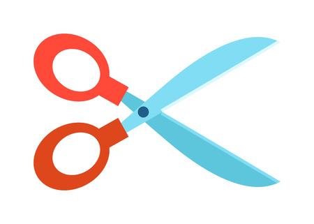 hair scissors: Steel scissors and style steel hair scissors hairdresser accessory symbol vector. Scissors flat vector symbol isolated on white background, Illustration