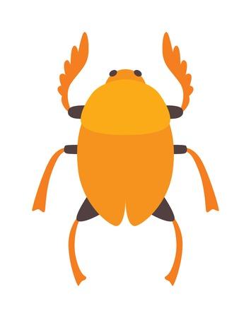 scarab: Egypt scarab beetle silhouette vector illustration or Egypt scarab beetle isolated on white background. Egypt scarab beetle vector icon illustration. Egypt scarab beetle isolated vector Illustration