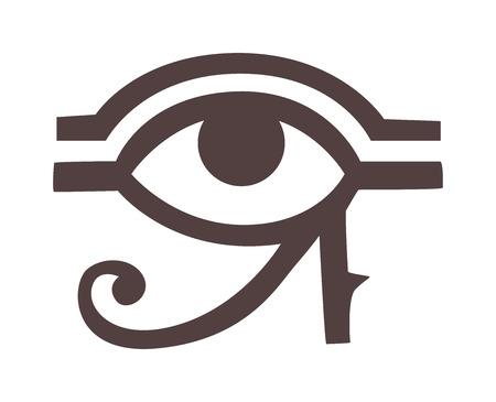 ra: Egypt God Ra vector symbol. Sun EYE OF Egypt God Ra - reverse moon eye of Thoth. Egypt God Ra vector hand drawn set. Egypt God Ra isolated on white background. Egyptian symbol God Ra vector. Illustration
