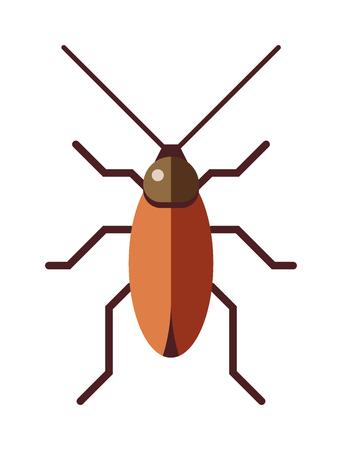 Cockroach infestation urban and health control cockroach. Bad creepy creature head cockroach, disgust hairy cockroach. Cockroach dirty broun pest and disgusting roach crawling bug cartoon flat vector.