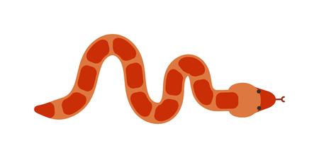 poison fang: Snake character wildlife and snake nature viper. Flat snake python symbol, venom predator snake toxic reptile. Cartoon snake danger tongue poisonous. Common viper snake wild danger reptile vector.