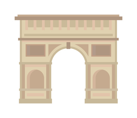 triumphal: Triumphal arch architecture travel europe and history old triumphal arch. Triumphal arch famous historic place, Triumphal Arch. Arc de Triomphe Paris France architecture europe travel monument vector.