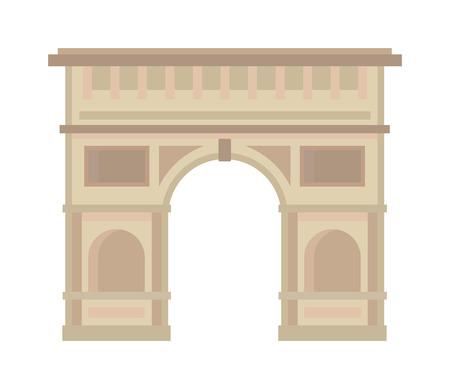 Triumphbogen Architektur Europa und Geschichte alten Triumphbogen. Triumphbogen berühmten historischen Ort, Triumphbogen. Arc de Triomphe Paris Frankreich Architektur Europa Reise Denkmal Vektor. Standard-Bild - 54585984