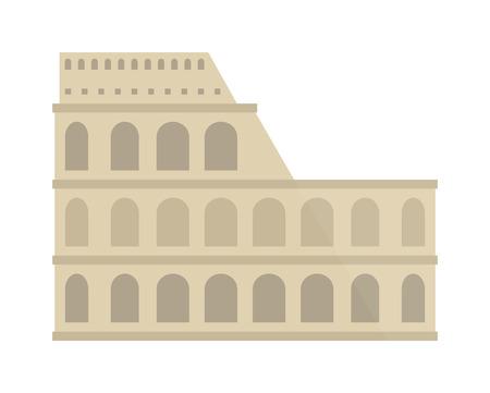 old ruin: Amphitheater ruin architecture history and old roman landmark amphitheater ruin. Amphitheater arena ruin famous coliseum. Amphitheater ruin an ancient architecture history city vector illustration.