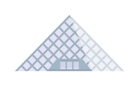 art museum: Louvre museum landmark building architecture and louvre museum france history famous pyramid. Louvre museum famous pyramid city art. Louvre worlds largest museum and historic monument in Paris vector Illustration
