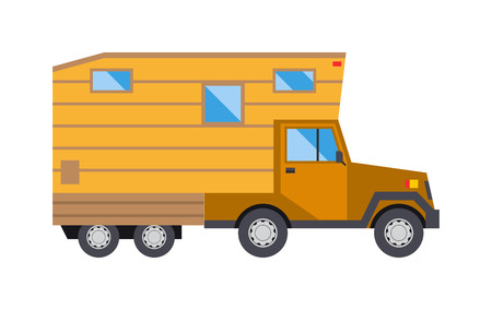 caravan: Ccaravan travel car vehicle trailer house summer vacation vector. Camper caravan car, vintage tourism caravan comfort car flat vector. Vintage caravan car vehicle trailer summer transport vector.