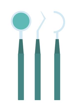 werkzeug: Dental-Tools Vektor-Illustration. Dental-Tools Vektor isoliert auf wei�em Hintergrund. Dental-Tools Vektor-Icon-Darstellung. Dental-Tools isoliert Vektor Vektor. Dental-Tools Vektor flache Silhouette