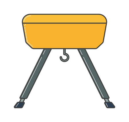 cross bar: Vector illustration of gym equipment and training body gym sport equipment. Fitness sport gym exercise equipment workout flat concept vector illustration. Illustration