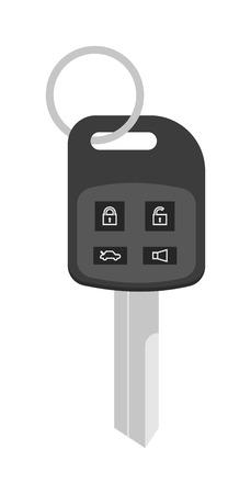 remote control: Automobile keys unlock control, car keys safety door system vector. Security car key with remote control cartoon flat vector illustration.