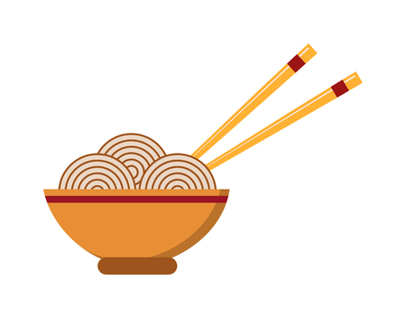 fried noodles: Chinese food dinner cuisine and chinese food meal dish lunch. Chinese vegetable oriental asia restaurant food. Chinese food. Chow Mein: fried noodles with chicken and vegetables chinese food vector.