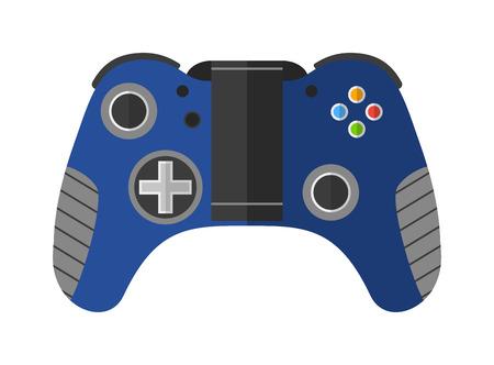 joypad: Game console joystick vector illustration. Game console joystick isolated on white background. Game console joystick vector icon illustration. Game console joystick