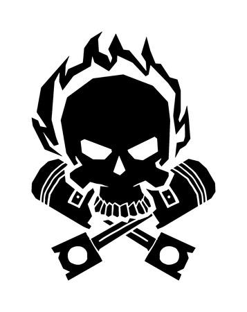 Negro de terror cráneo de la muerte esqueleto y el cráneo negro peligro el arte de miedo. rostro negro cráneo anatomía. cráneo negro oscuro gráfico gótico en las alas del casco. Alado máscara de calavera en negro alas casco de fuego de vector. Foto de archivo - 54588476
