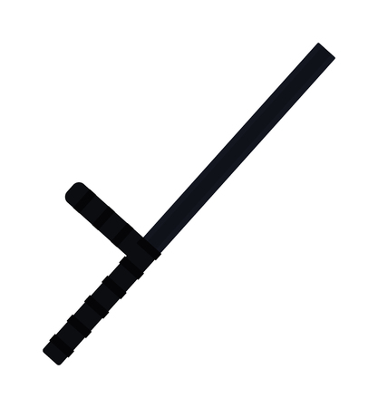 nightstick: Truncheon icon vector illustration. Truncheon icon isolated on white background. Police truncheon stick vector black silhouette