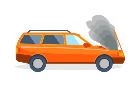 car speed: Accident road situation danger car crash and accident road collision safety emergency transport. Accident dangerous speed. Accident road on street damaged automobiles after collision car crash vector.