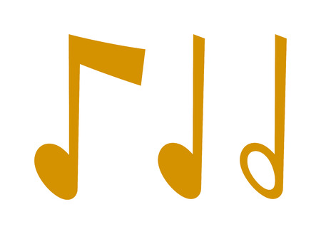 music notes vector: Black music notes vector set and silhouette of music notes graphic icons. Vector black icons music note melody symbols vector illustration.