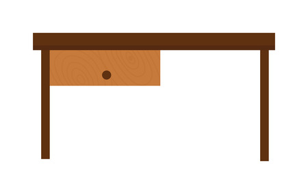 table surface: Brown wood table and school wood table. Grunge wood table and interior wood table accessory. Empty interior wood table. Wooden old brown table and wood desk surface retro flat vector isolated.