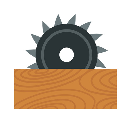 Big powerful angle grinder with abrasive disk industry machine vector illustration
