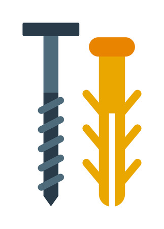 threaded: Bolts vector. Bolts illustration. Bolts isolated on white. Bolts gray icon. Bolts flat isolated. Bolts silhouette. Bolts flat style. Bolts tool