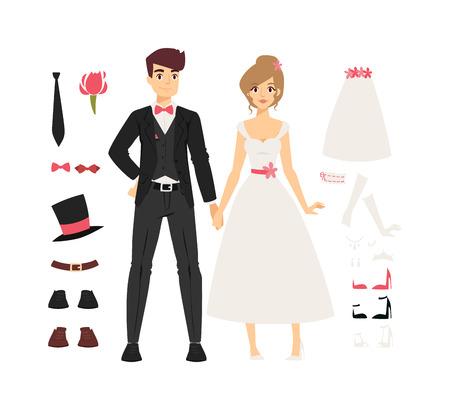 wedding bride: Wedding couple people vector illustration. Wedding couple isolated on white background. Wedding couple vector icon illustration. Wedding couple isolated vector. Wedding couple silhouette