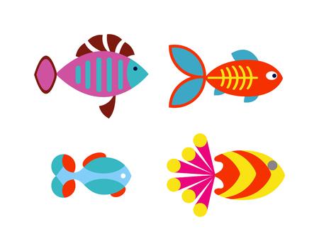 fresh water aquarium fish: Underwater aquarium fish and marine aquarium fish. Tropical wildlife aquarium fish, colorful ocean green exotic fish. Aquatic fish wildlife aquarium underwater nature animal vector. Illustration