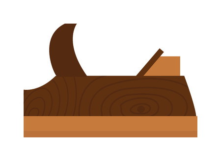 carver: Wood plane tool icons and Wood plane tool illustration. Flat Wood plane tool icons, Wood plane tool isolated on white background.