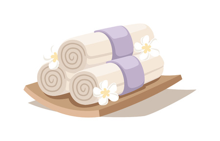 rock salt: Asian spa symbols and aroma oil spa symbols. Flower therapy water medicine spa and bamboo relaxation herbal symbols. Spa sketch decorative symbols set with bamboo towels aroma candles oils vector. Illustration