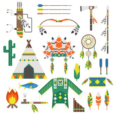 atrapasueños: Indios icono templo ornamento y los indios de iconos de elementos retro. Indios iconos de la vendimia hinduismo, indios Dreamcatcher la población étnica. Indios Iconos del recorrido templo tradicional asiático religión vector ornamento.