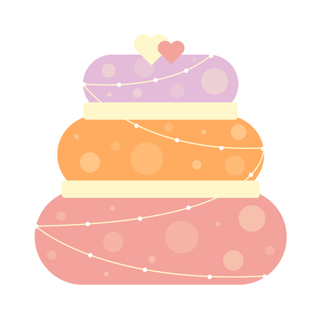 brownie: Pie isolated with fruits and chocolate pie isolated. Wedding cake sweet dessert homemade pie. Chocolate cream brownie cake topped pie isolated with white slice and cream flowers decorated vector. Illustration