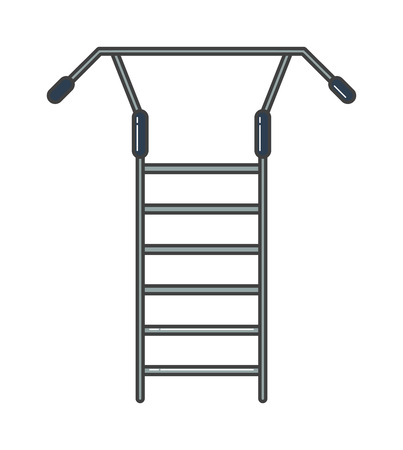 practise: Swedish staircase sports gymnastics ladder or gymnastics wall gym tool vector. Sports ladder vector, sports ladder icon isolated. Sports trainer wall for exercises practise. Gymnastics ladder