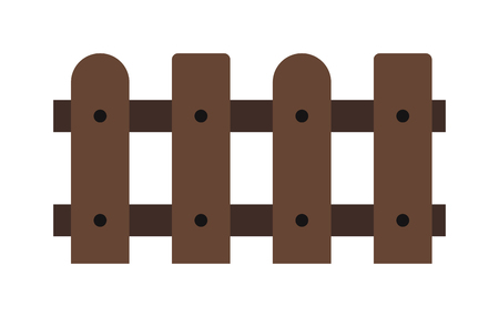garden fence: Wooden fence isolated on background. Garden fences vector illustration. Fences railing vector isolated.Wooden long fence, vector fence.Wooden fence silhouette construction isolated.Wooden garden fence