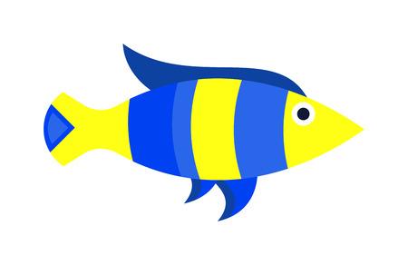 discus fish: Aquarium underwater fish and marine aquarium blue fish. Wildlife tropical sea aquarium fish, colorful ocean aquarium blue exotic fish. Blue discus fish aquarium underwater nature animal vector. Fish vector, fish icon