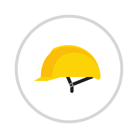 head protection: Yellow helmet isolated on white background . Helmet , head protection. Yellow safety helmet on white background. Head protection hard hat isolated on white. Head protection Illustration