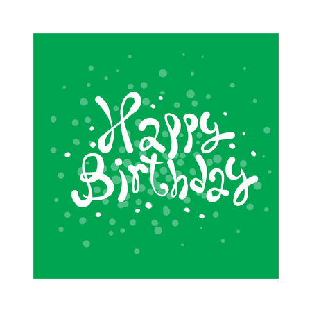 birthday invitation: Happy Birthday Card illustration. Background of Happy Birthday Card design invitation. Happy Birthday card poster. Happy Birthday party design concept