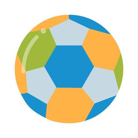 leather ball: Soccer ball isolated on white illustration. Soccer ball football sport equipment. Soccer ball design. Soccer ball . Soccer ball colored design. Soccer leather ball.