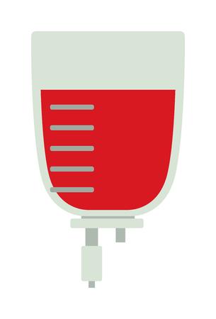needy: Blood transfusion flat illustration. Logotype blood donation, help the sick and needy. Dropper with a drop of blood. Blood transfusion flat. Blood transfusion flat medical equipment. Blood Bag.
