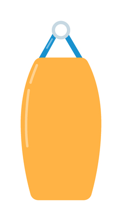 punching bag: Punching bag flat illustration. Punching bag training equipment. illustration of punching bag. Punching bag boxing sport equipment. Punching bag flat. Gym sport equipment. Isolated unching bag Illustration