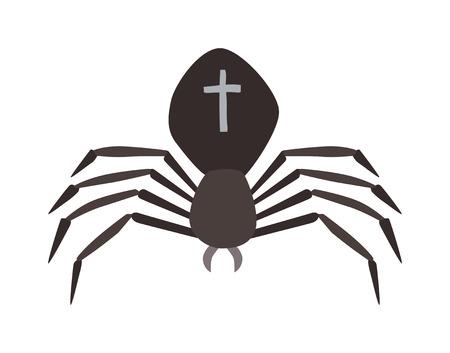 ison: Spider illustration. Black Widow spider. spider over white background. Spider halloween design ison. Spider insect black illustration. Spider cartoon design.