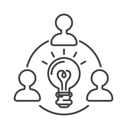 lamp vector: Idea symbol bulb lamp and idea icon concept. Power design lightbulb idea in hand, innovation creativity business idea. Light lamp sign idea icon concept bulb light in hand line art vector illustration. Lamp vector