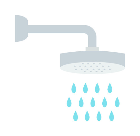 artoon: Shower icon and bath artoon shower vector. Beautiful water drops with shower and shower cartoon flat vector illustration. Shower drops