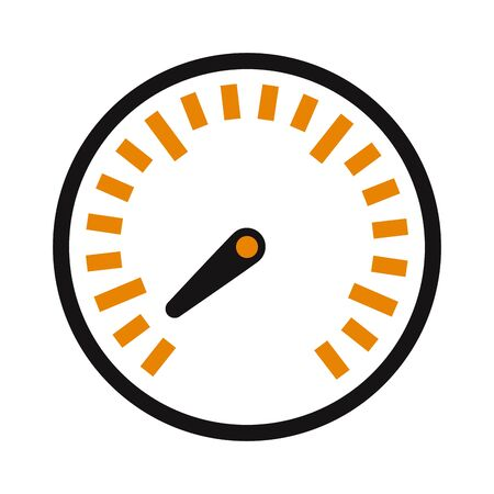 indicator panel: Design power speedometer cars speed and cars element technology speed. Meter control cars speed measurement panel indicator arrow. Vector performance measurement cars speed icon auto symbol.