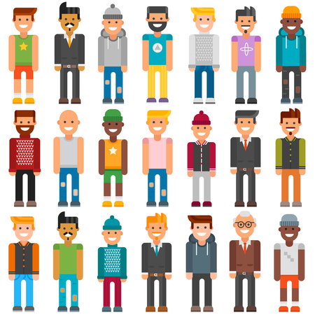 work clothes: Cartoon characters face job people and cartoon characters people worker office suit. Colorful avatar characters face. Group cartoon characters people different professional manager person vector.