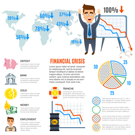 economy crisis: Crisis symbols concept and crisis symbols problem. Crisis symbols economy banking. Business finance crisis symbols design banking investment icon. Crisis symbols business sign finance flat vector. Illustration