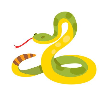 Goud python netvormig albino boa constrictor wildnatuur slang vector illustratie. Boa slang wild dierlijke natuur en exotische boa goud slang. Boa aanval kruipen roofdier gevaar slang. Vector Illustratie