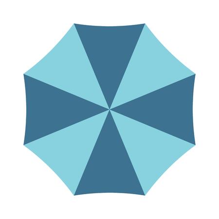 brolly: Vector illustration of classic elegant opened umbrella isolated on white background. Flat opened umbrella flat cartoon vector illustration. Opened umbrella weather parasol.