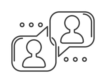 Speech bubble icon communication symbol talk element message chat web vector line art. Bubble icons communication and talk bubble icons element. Outline art bubble icons chatting. Illustration