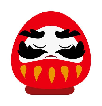 prosperidad: Dios chino de la prosperidad riqueza simbolo vector de dibujos animados plana tradicional. la cultura china de dios y dios chino rojo. saludos chinos dios de carácter festival de la religión linda fortuna religiosas.
